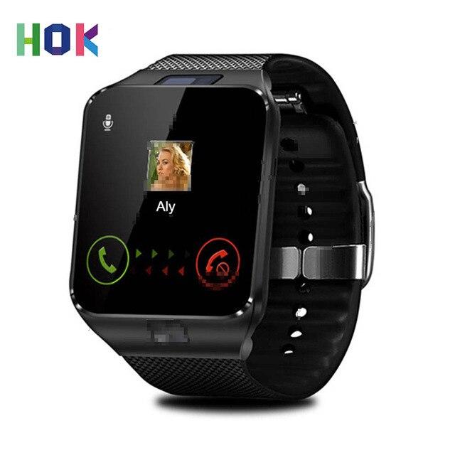 d2146ecd1 HOK DZ09 reloj inteligente Bluetooth Cámara deportiva reloj compatible con tarjeta  SIM TF para teléfono Android