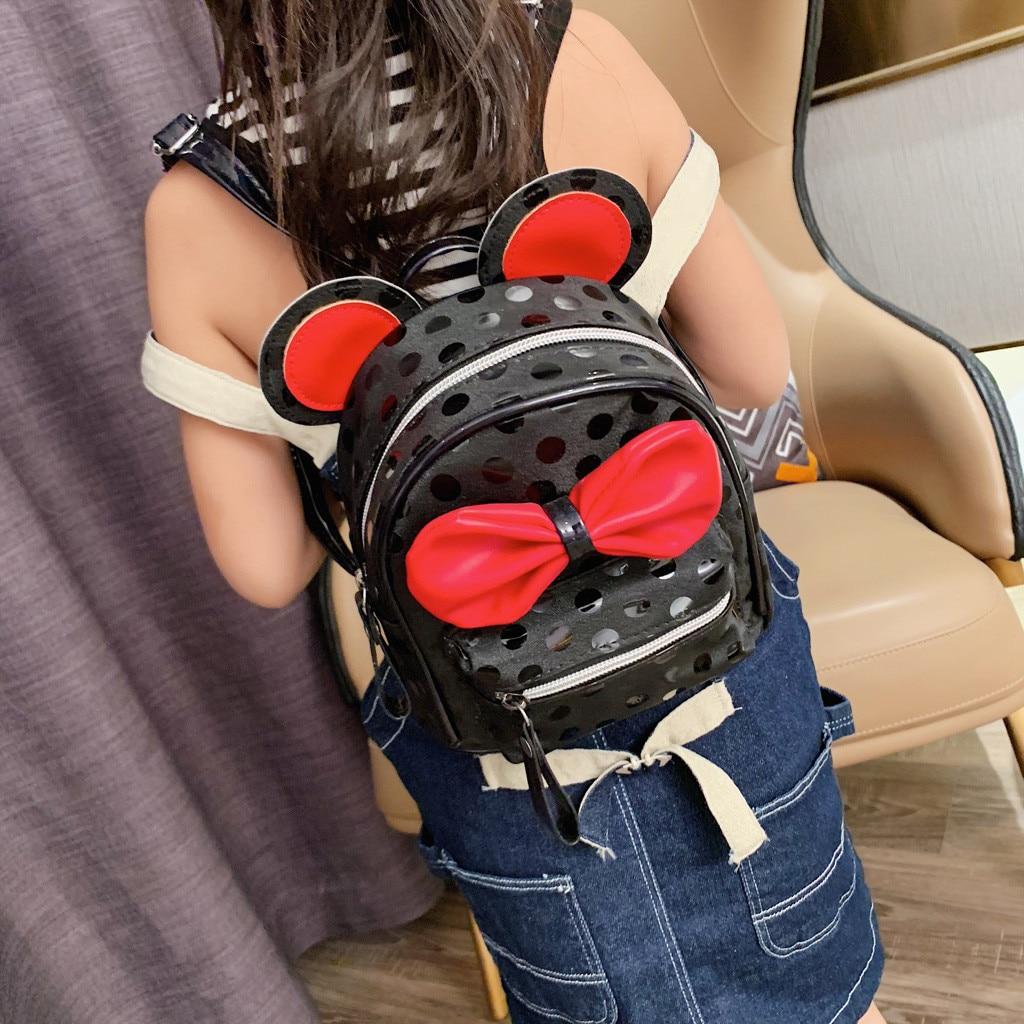 ISHOWTIENDA Backpack Fashion Cute Bag Children Cartoon Mujer Bolso Wave-Point-Bow