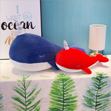 Creative Cute Marine Animal Whale Plush Toys Stuffed Doll Toy Soft Pillow Children Birthday Gifts