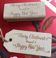 Handmade Merry Christmas 8 3 5cm Wooden Rubber Stamps For Scrapbooking Carimbo Timbri Christmas Stamps