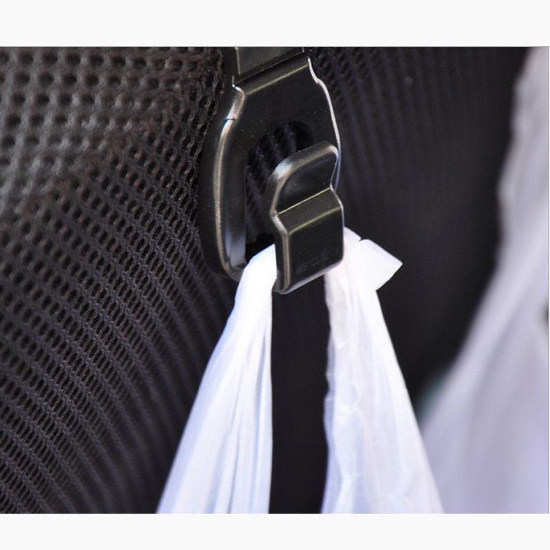 2 pcs Solid Car Back Seat Headrest Hanger Holder Hooks For Bag Purse Cloth Grocer new hot 2pcs car interior accessories portable auto seat hanger purse bag organizer holder hook headrest free shipping