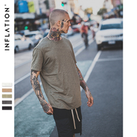 INFLATION 2017 Summer New Style Men S Solid Extended Elongated Plain T Shirt Bamboo Cotton