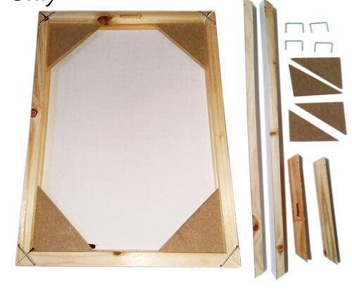 Struttura in legno per la pittura a olio su tela natura legno FAI DA TE personalizzati cornice telaio interno senza la pittura Frame size 40x50 cm