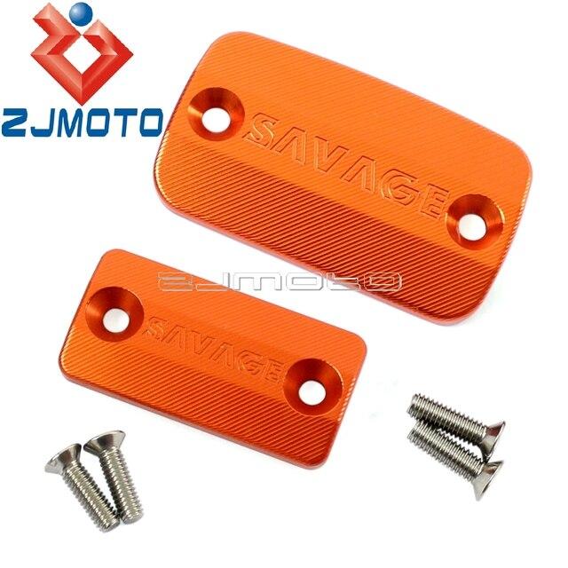 US $6 06 5% OFF|Orange Motorcycle Aluminum Brake Clutch Master Cylinder  Fluid Reservoir Cover Cap Guard For KTM 690 SMC 2008 2012 -in Covers &