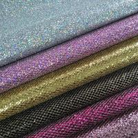 1 meter Pu Diamond Leather Pattern Artificial Upholstery Furniture Material Glitter Waterproof Mirror Leather for Bag Tablecloth