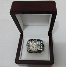 Wholesale Past Master Masonic Zinc Alloy silver plated Custom Sports Replica  World Championship Ring With Wooden Boxes
