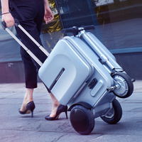 Electric Riding Trolley Travel Suitcase.Luxurious Intelligent Carry on Robot Luggage.Can be Riding suitcase,Smart travel trolley