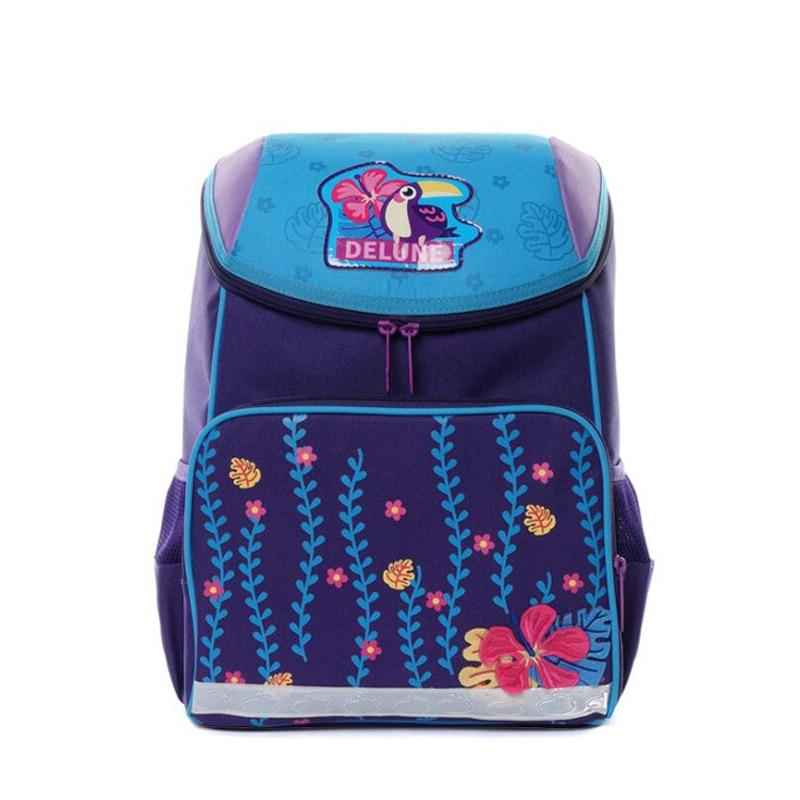 840a2e0149e3 Новый бренд 1-3 класса школьные рюкзаки для девочек и мальчиков с 3D  принтом Школьный