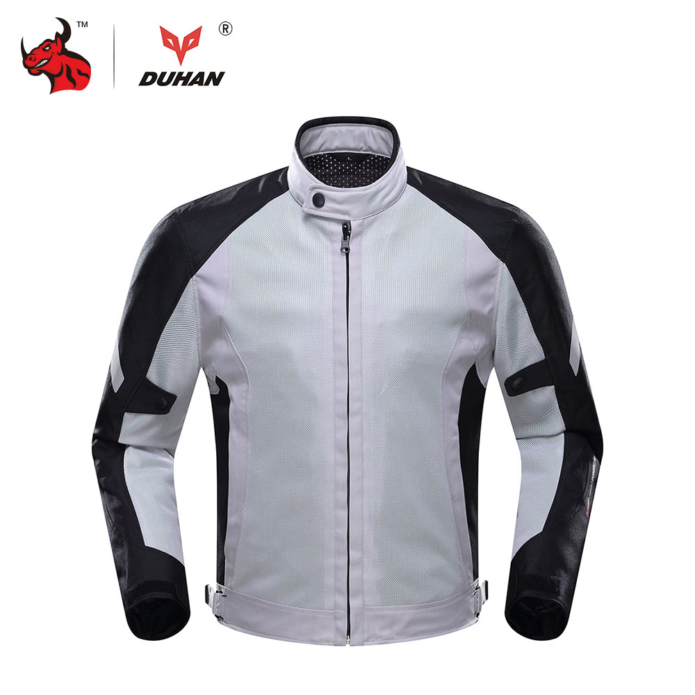 DUHAN Motorcycle Jacket Summer Breathable Moto Jacket Motocross Clothing Jaqueta Motoqueiro Campera Moto Hombre top good motorcycles mesh fabric jacket summer wear breathable hard protective overalls motorcycle clothing wy f607 green