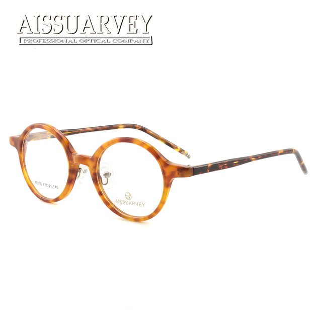 421dc5a62c6 2018 Acetate Round Vintage Prescription Eyeglasses Men Women Eyewear  Goggles Top Quality Retro Reading Computer Glasses Frames