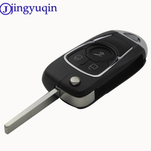 jingyuqin 3 Button Folding Flip Remote Car Key Cover Case For Chevrolet Cruze For Buick VAUXHALL OPEL Insignia Astra J Zafira C