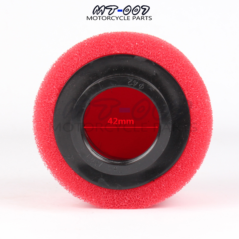 32mm Scooter Air Filter Red Performance Double Foam Style Straight Neck