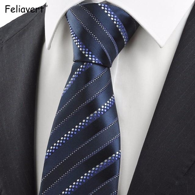 grande varietà super popolare prezzo moderato US $9.89 |Feliavert Cravatte di Lusso Mens Cravatte A Righe Degli Uomini  Classici Vintage Cravatta Fatta A Mano Del Progettista Inghilterra Stile  8.5 ...