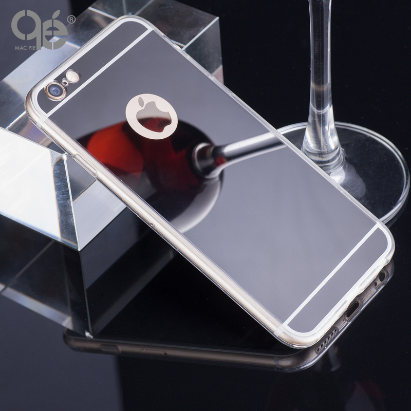 Fashion Luxury Mirror Soft Case For Iphone 6 6S 4.7inch TPU Frame Cover For Iphone 6 6S Plus Ultra Slim Clear Phone Case 5 5SE