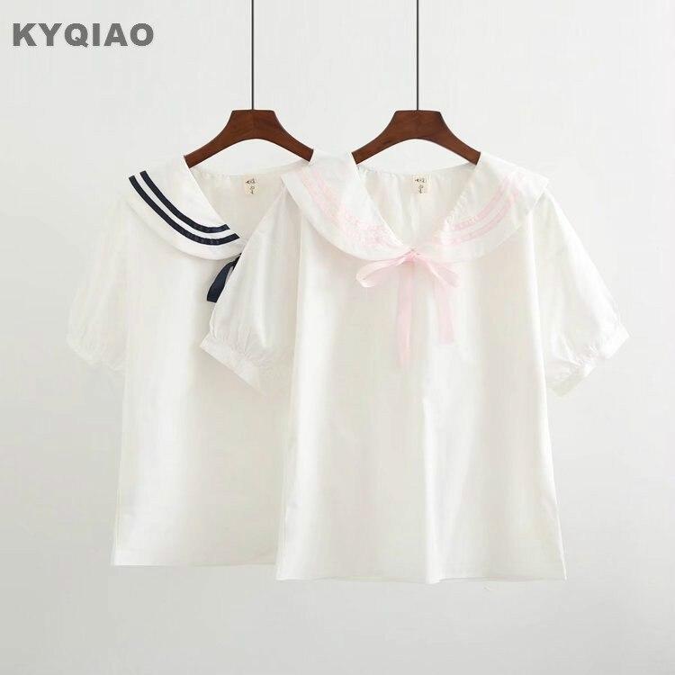 Sunny Kyqiao Blusas Mujer De Moda 2019 Women Shirt Autumn Spring Japanese Style Sweet Long Sleeve Pink White Beige Blue Lace Blouse Women's Clothing