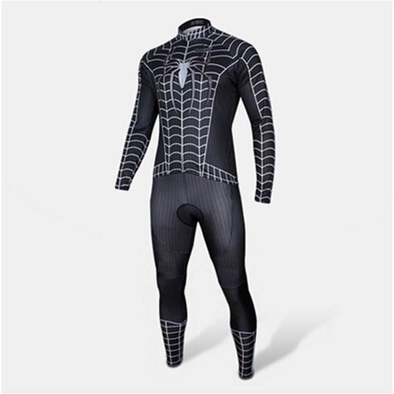 Super Hero black Spiderman cycling clothing men women children bike bicycle  wear long 4f201c4d2