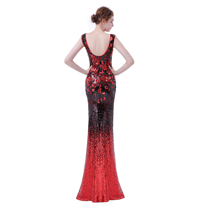 FADISTEE Elegant Party Dress Prom Dresses Long Dress Vestido De Festa Mermaid Sequined Long Sexy Backless Evening Formal Gown