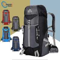 Quality 55L Waterproof Climbing Hiking Backpack Rain Cover Bag Camping Mountaineering Backpack Sport Outdoor Bike Bag