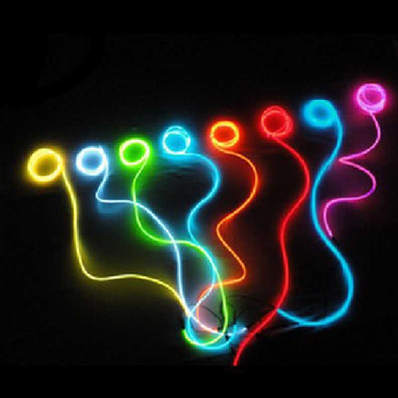 2 M El Kawat Fleksibel LED Neon Strip Cahaya Dingin Strip Tali Tape 12 V Mobil Dekorasi Interior Neon untuk Ford Audi Nissan VW Kia