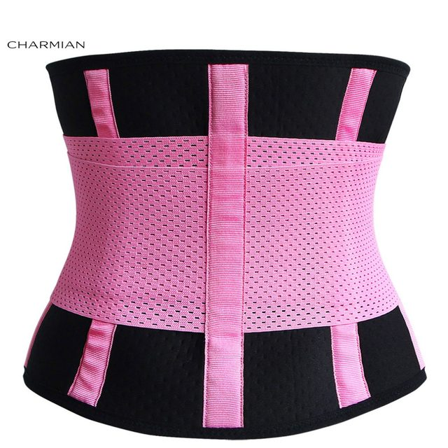 92bc8ff181cd9 Charmian Women s Adjustable Waist Trainer Belt Workout Enhancer Stomach Body  Shaper Waistband for Hourglass Shape Corset