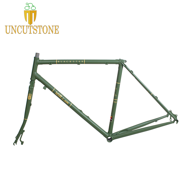 Touring Bike  Road Bicycle Frame  49 Cm 50 Cm 52 Cm 54 Cm 58cm 4130 Chrome Molybdenum Frame Road Bike Frame Customized Color