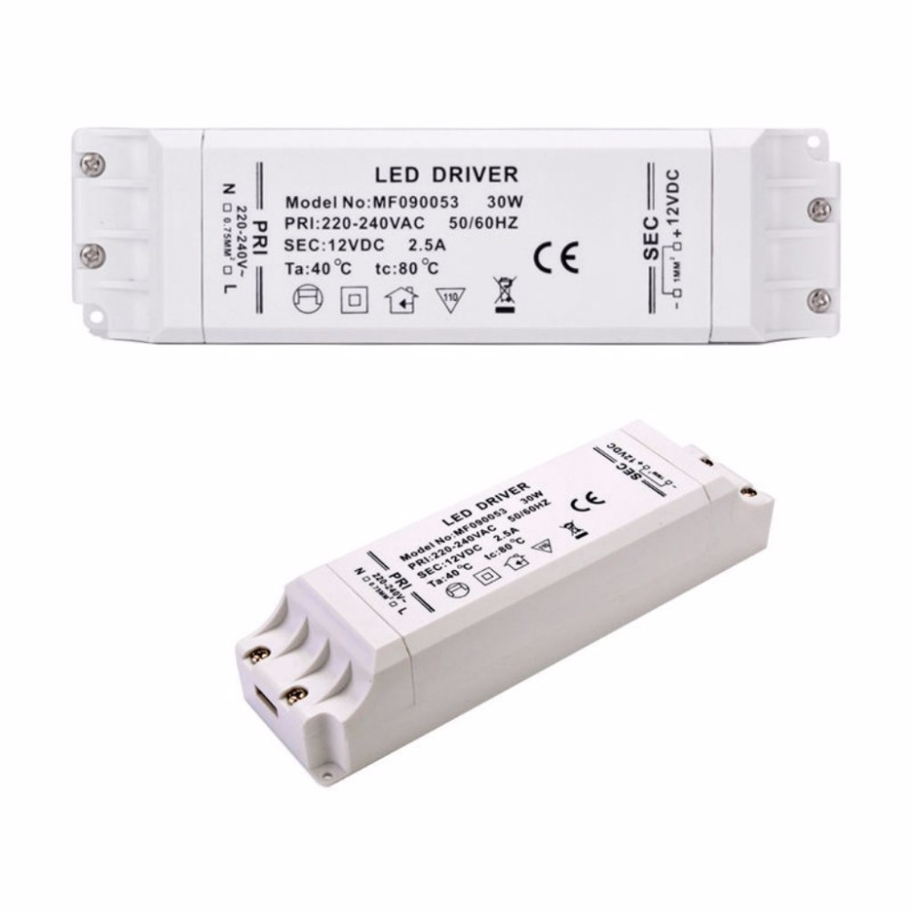 Image 5 - led driver transformer 50w 30w 18w 12w 6w dc 12V output 1A Power Adapter Power supply for led lamp led strip downlight-in Lighting Transformers from Lights & Lighting