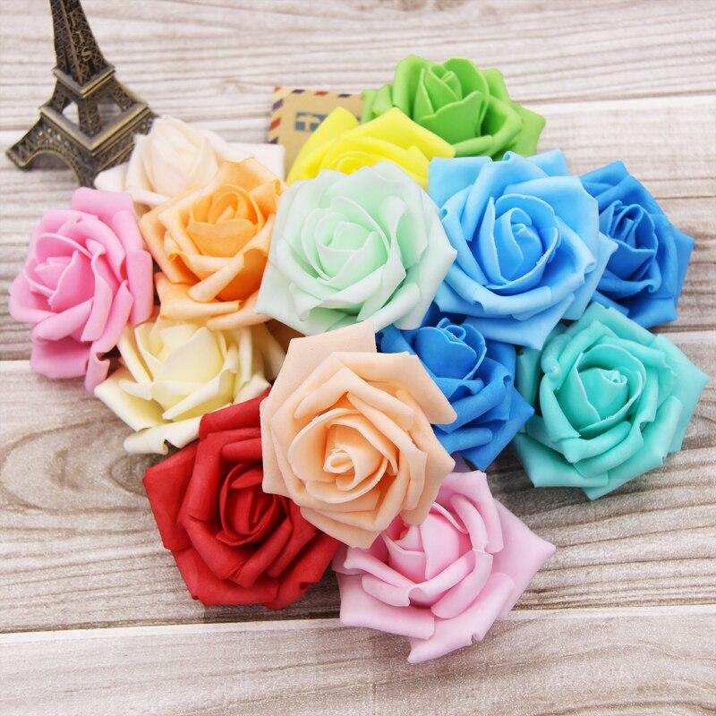 unids cabezas de flores de espuma de rosas para el hogar y decoracin de