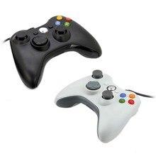 Joypad проводная microsoft game черный/белый xbox джойстик геймпад windows портативных контроллер