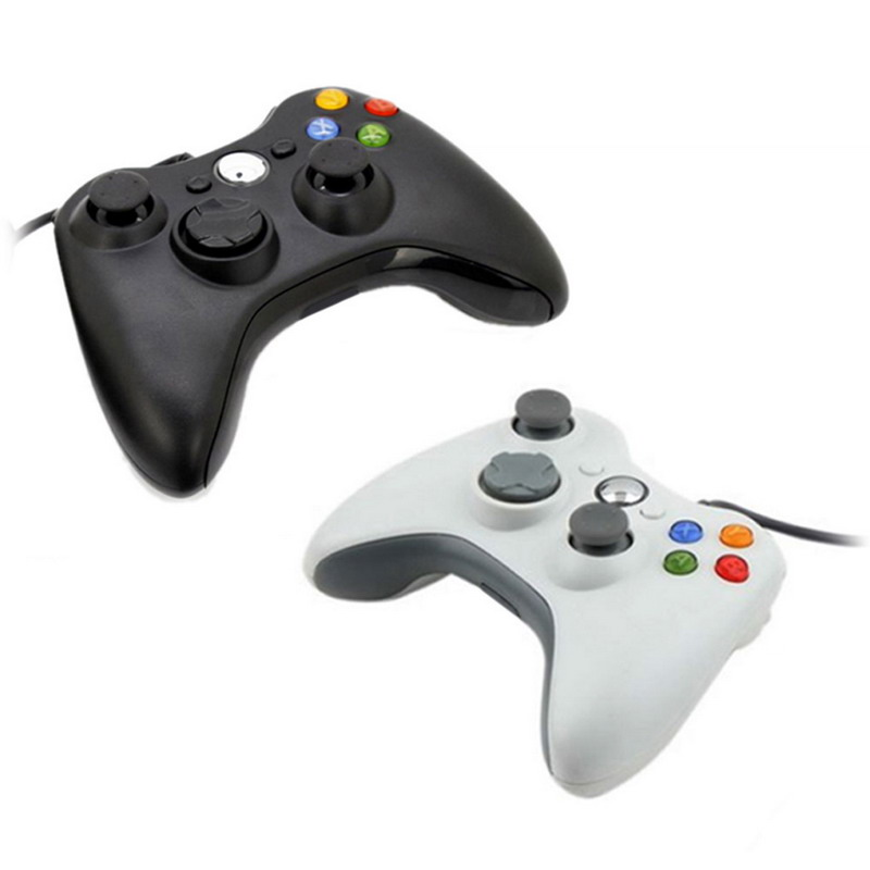 Black White 2 5 m font b USB b font Wired Game Pad Joypad Controller For