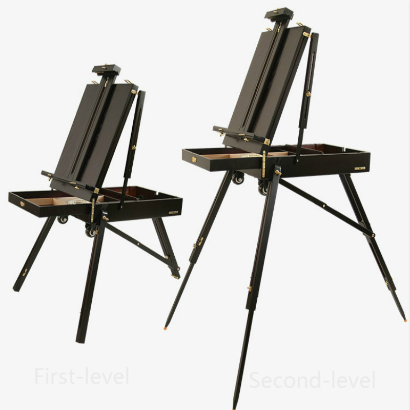 Men Wood Box Easel Watercolor Gouache Oil painting Women Easel Hardware Accessories Multifunction Painting Suitcase Art Supplies italian red elm oil box new four feet easel multi function easel with oil painting box made by natural red ju wood