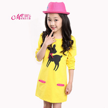 Girls Party Dress Spring Autumn Cartoon Kids Dresses For Girl Clothes Children Clothing Vestidos Costume 4 6 8 10 12 13 Years new 2017 summer autumn girl dress stripe cartoon cute children dresses side 2 pockets cotton vestidos girls clothes kids costume