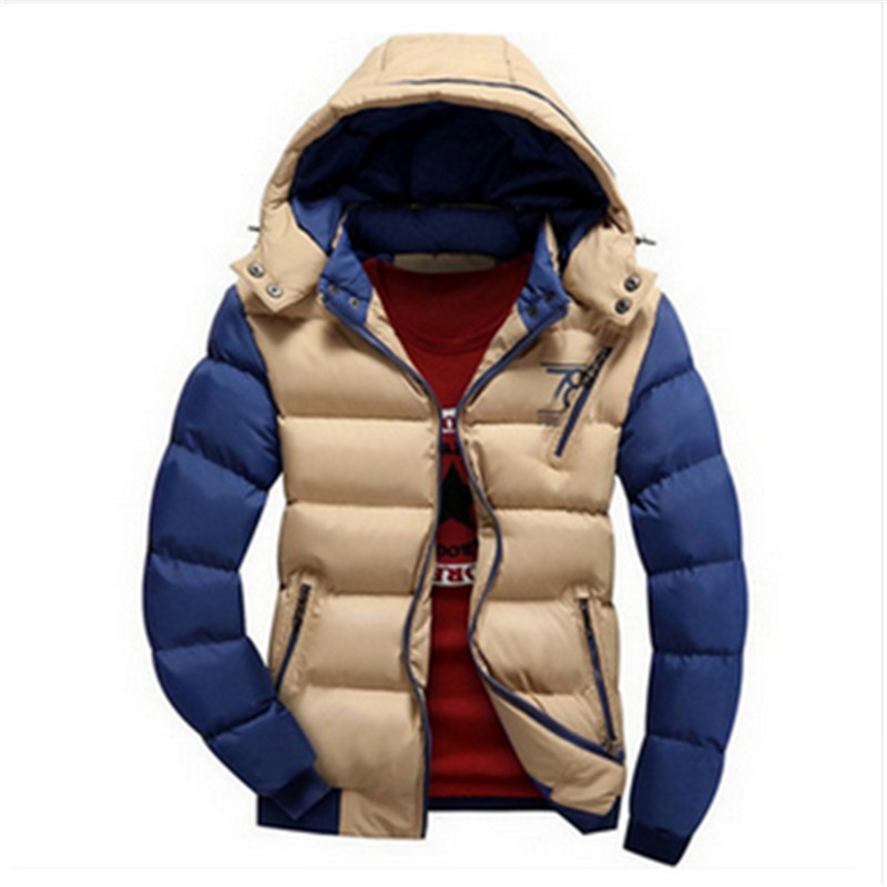 2017 Fashion Winter Brand Men Down Parkas Jackets Fashion Man Hooded Thick Warm Outdoors Overcoat Coat