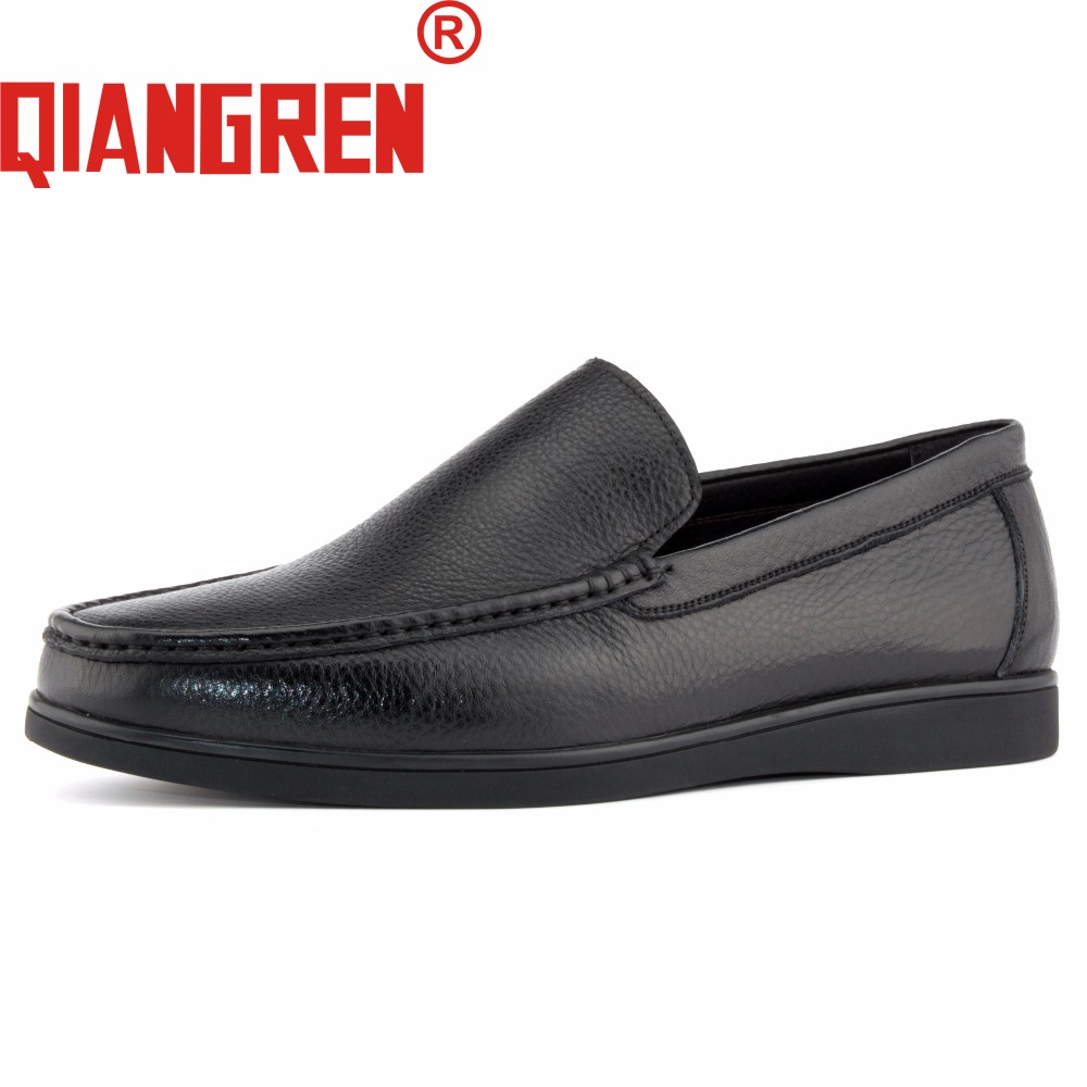 QIANGREN Military Brand Men\'s Spring Autumn Genuine Leather Loafers ...