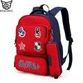 Baijiawei 2017 nuevos niños mochilas escolares para niños niñas mochila en la escuela primaria mochilas cremallera mochila infantil
