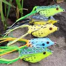 Sougayilang 5pcs Soft Lure Target Frog 6cm 10g Topwater Snakehead Baits Fishing  Simulation Frog Lure Bass Bait Pesca with Box