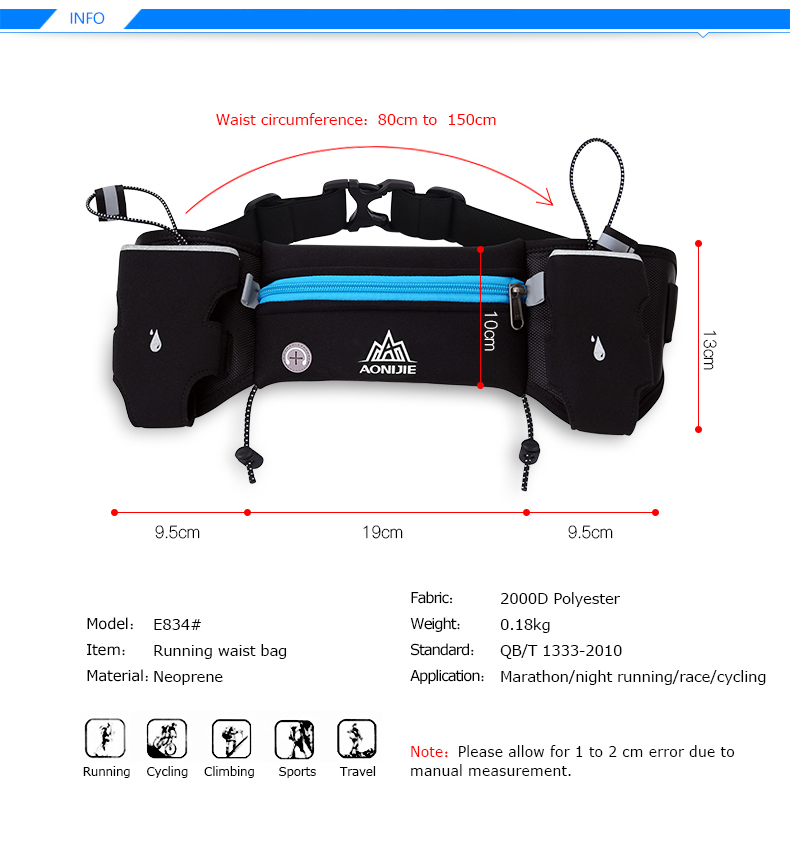 Lightweight Running Hydration Belt