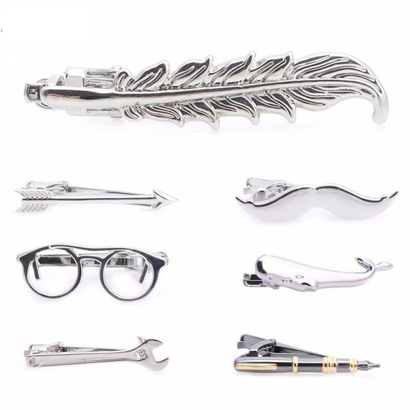 1 Stück Mode Männer Vintage Silber Pfeil Krawatte Clip Krawatte Feder Archor Schnurrbart Krawatte Spangen Bar Verschluss
