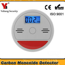 YobangSecurity домашней безопасности 85dB Предупреждение ЖК-дисплей фотоэлектрический независимый датчик газа CO детектор угарного газа
