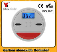 Home Safety High Sensitive LCD Photoelectric Independent CO Carbon Monoxide Poisoning Smoke Gas Sensor Warning Alarm