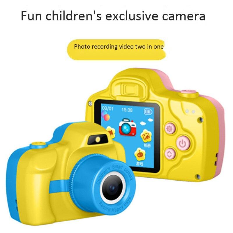 Dessin animé enfant appareil photo numérique mini enregistreur vidéo hd photographie caméras jouer à des jeux audio machine de lecture une lampe de poche flash