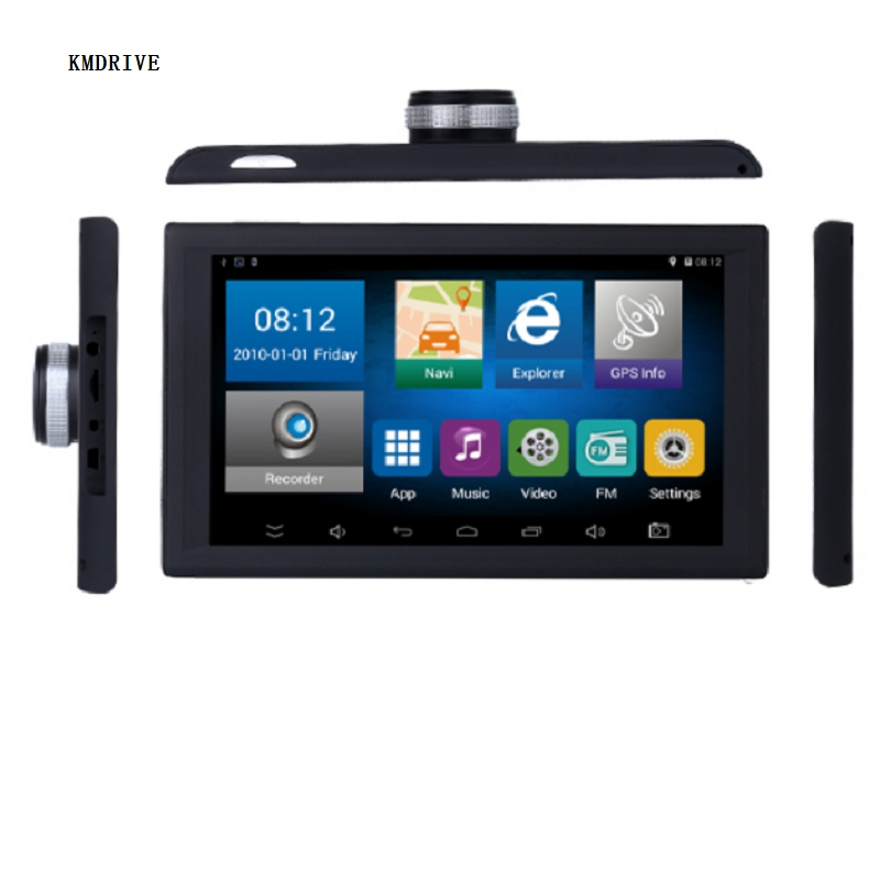 9 inch Android Car Truck GPS Navigation 8GB 16GB DVR Video recorder Tablet  AV-IN support reversing camera  with free Maps(China)
