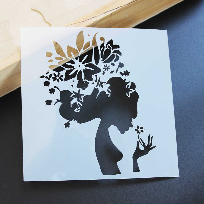 DIY Craft Women Hollow Stencils For Walls Painting Scrapbooking Stamping  Album Decorative Embossing Paper Cards 1081929936