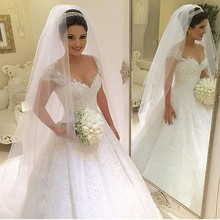Short Sleeve Princess Wedding Dress Gown Ball Gown Bride Romantic abiti da sposa  china on-line retailer