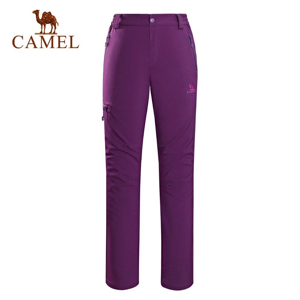 CAMEL Winter Softshell Outdoor Climbing Waterproof Windproof Hiking Pants Women Camping Trekking Cargo Sport Trousers цена