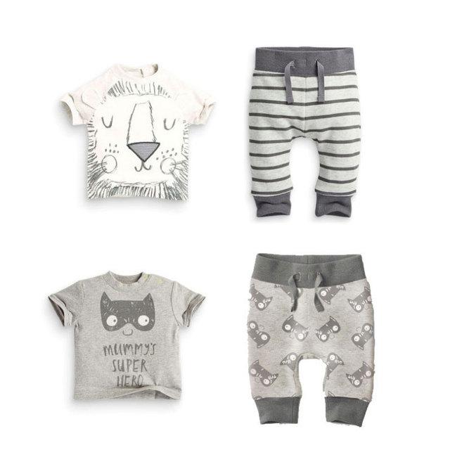 Al por mayor del bebé del verano ropa algodón moda 2 unids juego León  Batman recién 024071cf3d9a