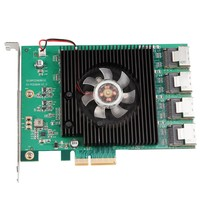 Marvell Chipset 16 Ports SATA 6GB PCIe Controller Card PCI E To SATA III 3 0