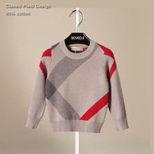 2 6 years old Baby Boy Sweaters Thicken Knitted Classic England Style Kids Pullovers Boys Cardigan
