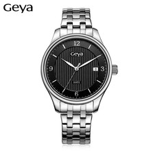 Geya Business Mens Wrist Watches Steel Watchband Top Luxury Brand Males Japan Quartz Clock Gentleman wristwatches Montres Hommes