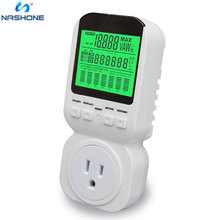 цена на Power Energy Meter,Electricity Usage Monitor Plug with High Accuracy, LCD Display Watt Meter Power Analyzer with Overload Alarm