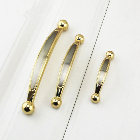 2.5'' 3.75'' 5''Drawer Pulls Handles Knobs Dresser Pulls Kitchen Cabinet Door Handle Knob Gold Silver Chrome Wardrobe Hardware antique european furniture handles cabinet handle door drawer circular copper